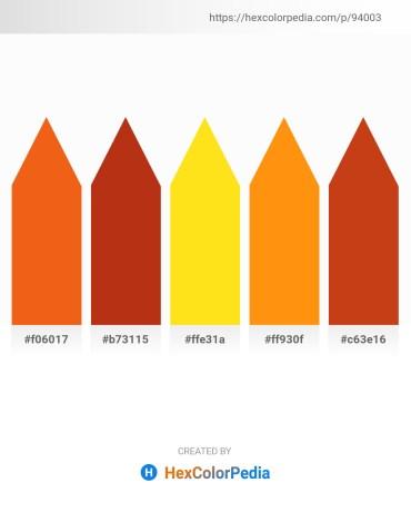 Palette image download - Orange Red – Firebrick – Gold – Dark Orange – Chocolate