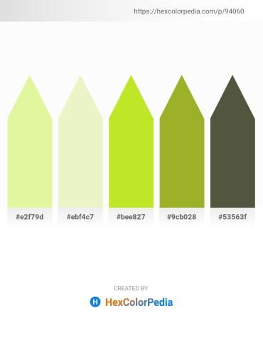 Palette image download - Khaki – Pale Goldenrod – Green Yellow – Yellow Green – Dark Olive Green