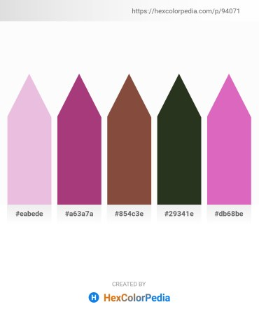 Palette image download - Plum – Tan – Sienna – Indian Red – Orchid