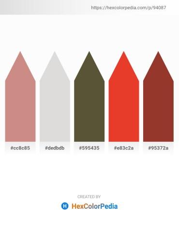 Palette image download - Tan – Gainsboro – Dark Olive Green – Crimson – Brown