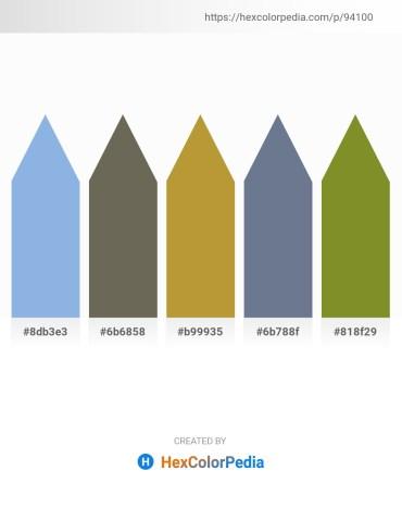 Palette image download - Sky Blue – Dim Gray – Peru – Slate Gray – Olive Drab