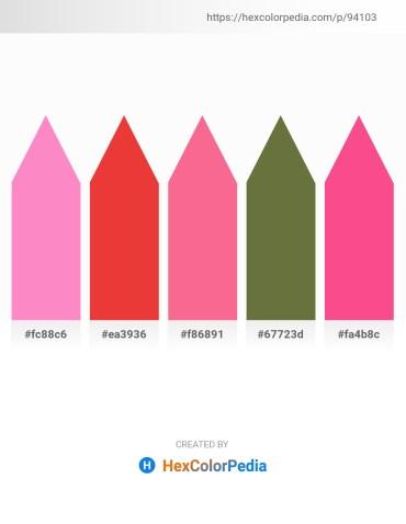 Palette image download - Hot Pink – Crimson – Salmon – Dark Olive Green – Hot Pink