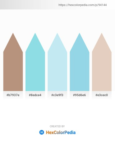 Palette image download - Rosy Brown – Sky Blue – Pale Turquoise – Sky Blue – Tan