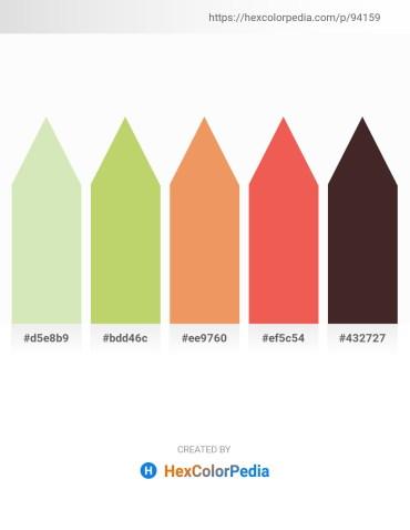 Palette image download - Beige – Cadet Blue – Sandy Brown – Tomato – Forest Green