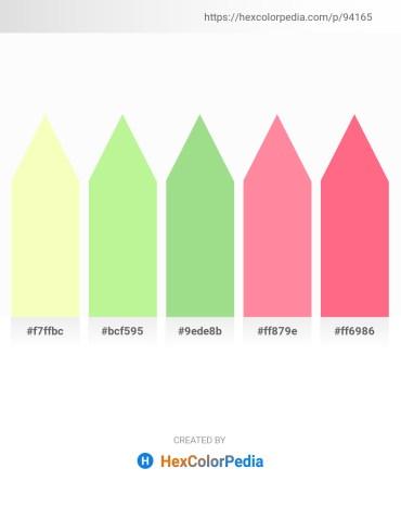 Palette image download - Lemon Chiffon – Pale Green – Light Green – Hot Pink – Salmon
