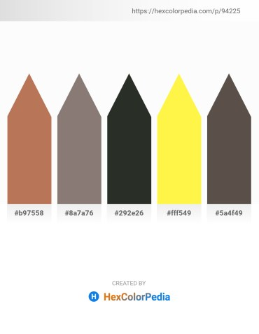Palette image download - Indian Red – Gray – Dark Slate Gray – Yellow – Dim Gray