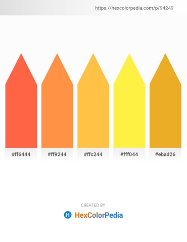 Palette image download - Tomato – Coral – Sandy Brown – Yellow – Goldenrod