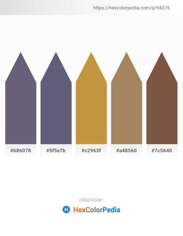 Palette image download - Slate Gray – Slate Gray – Peru – Dark Khaki – White Smoke