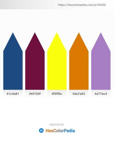 Palette image download - Midnight Blue – Lawn Green – Yellow – Dark Orange – Medium Purple