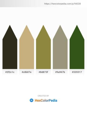 Palette image download - Dark Slate Gray – Tan – Dark Olive Green – Gray – Forest Green