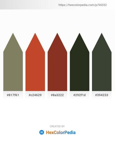 Palette image download - Dim Gray – Firebrick – Brown – Dark Olive Green – Dark Slate Gray