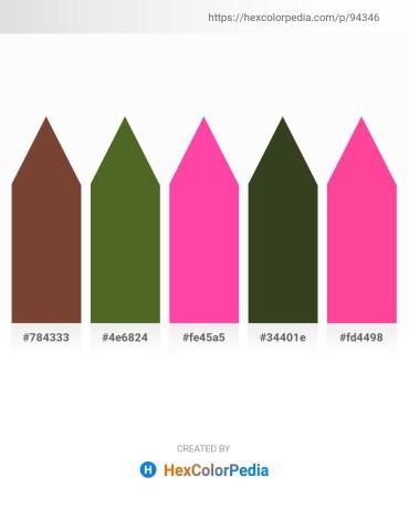 Palette image download - Sienna – Dark Olive Green – Hot Pink – Dark Olive Green – Hot Pink