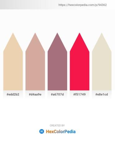 Palette image download - Pale Goldenrod – Tan – Rosy Brown – Crimson – Beige