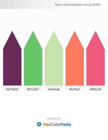 Palette image download - Brown – Medium Sea Green – Pale Goldenrod – Salmon – Light Coral