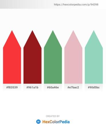 Palette image download - Tomato – Firebrick – Cadet Blue – Plum – Medium Aquamarine