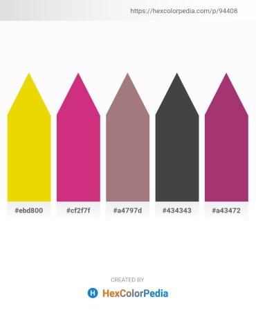 Palette image download - Gold – Medium Violet Red – Rosy Brown – Dim Gray – Pink