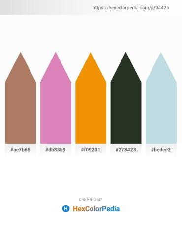 Palette image download - Rosy Brown – Orchid – Dark Orange – Dark Slate Gray – Light Steel Blue