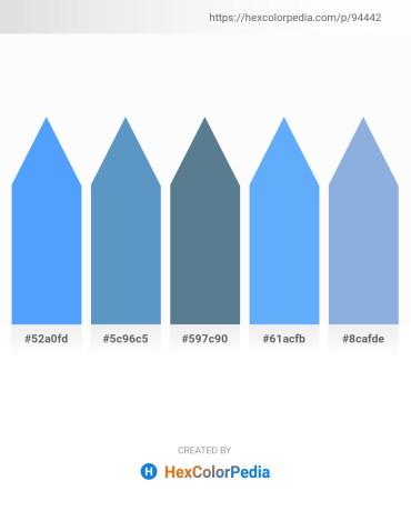 Palette image download - Dodger Blue – Steel Blue – Cadet Blue – Light Sky Blue – Light Blue