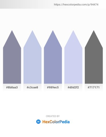 Palette image download - Light Slate Gray – Light Steel Blue – Light Steel Blue – Lavender – Dim Gray