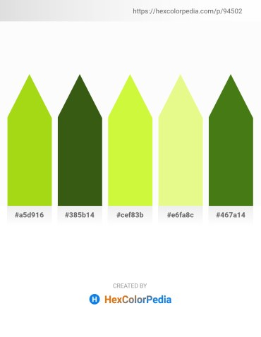 Palette image download - Yellow Green – Forest Green – Green Yellow – Khaki – Olive Drab