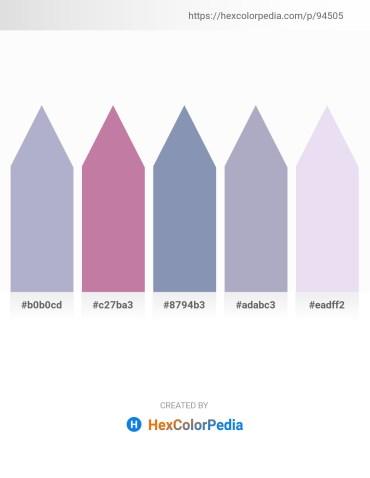 Palette image download - Light Steel Blue – Rosy Brown – Light Slate Gray – Light Steel Blue – Lavender