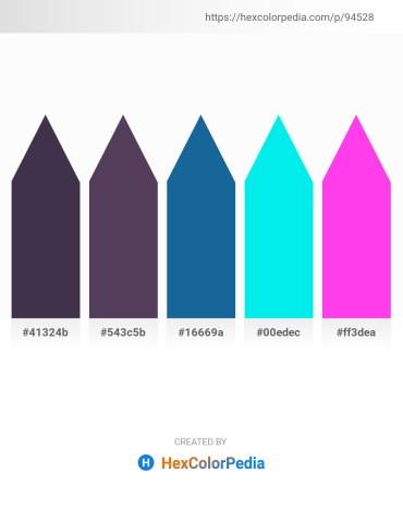 Palette image download - Dark Slate Blue – Dark Slate Blue – Gray – Aqua – Magenta