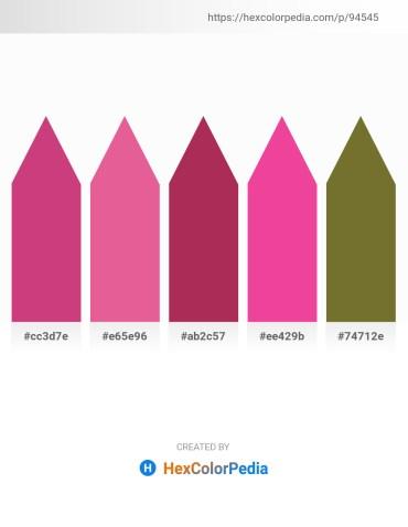 Palette image download - Indian Red – Pale Violet Red – Brown – Deep Pink – Dark Olive Green