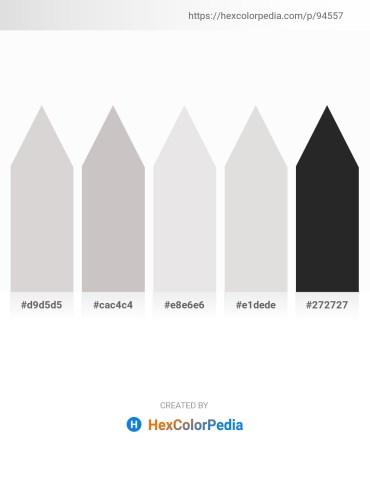 Palette image download - Light Gray – Silver – Gainsboro – Gainsboro – Black