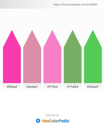 Palette image download - Deep Pink – Pale Violet Red – Hot Pink – Dark Sea Green – Medium Sea Green