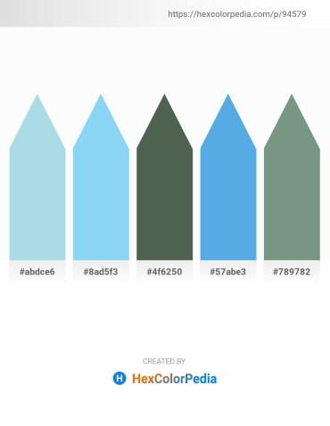 Palette image download - Light Blue – Sky Blue – Dark Slate Gray – Cornflower Blue – Cadet Blue
