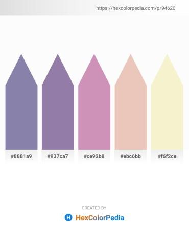 Palette image download - Light Slate Gray – Light Slate Gray – Plum – Firebrick – Linen