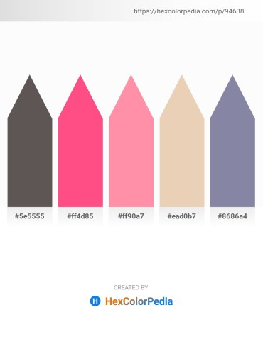 Palette image download - Dim Gray – Hot Pink – Hot Pink – Pale Goldenrod – Light Slate Gray