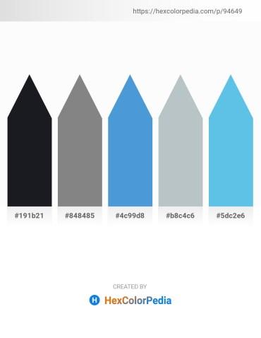 Palette image download - Black – Slate Gray – Royal Blue – Light Steel Blue – Sky Blue
