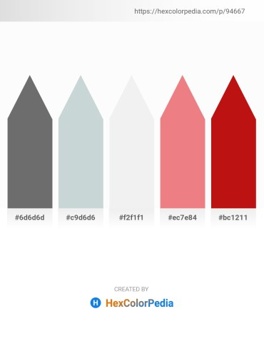 Palette image download - Dim Gray – Light Steel Blue – White Smoke – Light Coral – Crimson