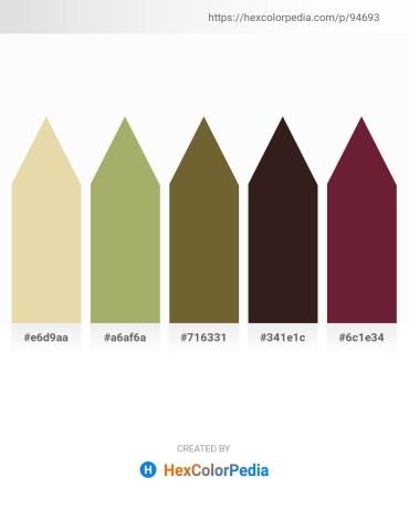 Palette image download - Pale Goldenrod – Dark Khaki – Dark Olive Green – Deep Pink – Brown
