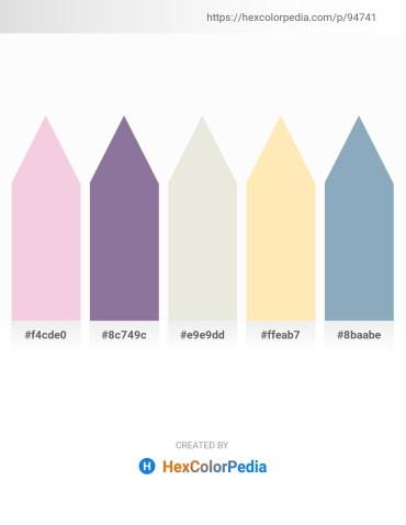 Palette image download - Linen – Light Slate Gray – Gainsboro – Moccasin – Cadet Blue