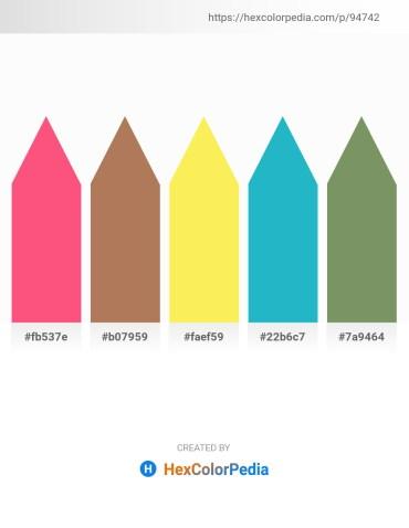 Palette image download - Salmon – Brown – Thistle – Light Sea Green – Dark Sea Green