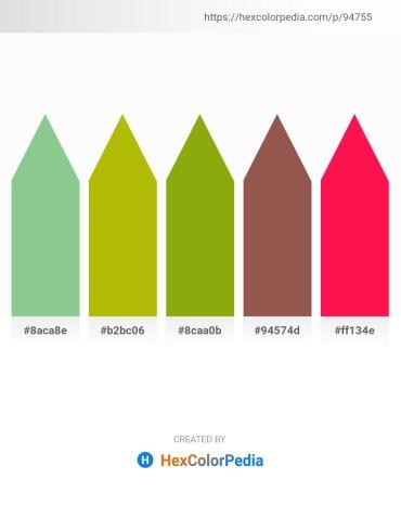 Palette image download - Dark Sea Green – Pale Goldenrod – Moccasin – Sienna – Deep Pink