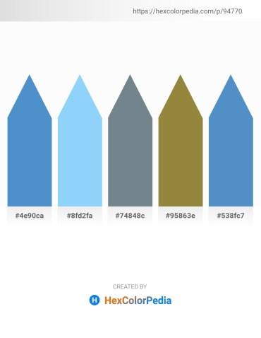 Palette image download - Steel Blue – Light Sky Blue – Slate Gray – Forest Green – Steel Blue