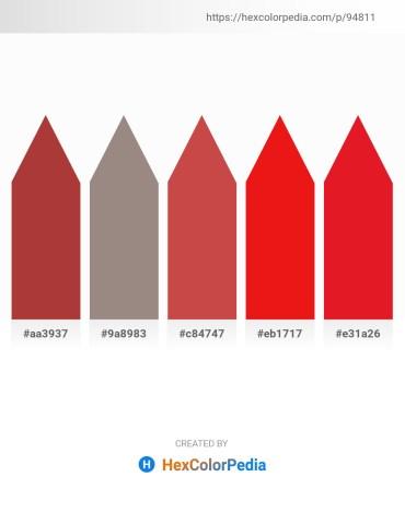 Palette image download - Brown – Gray – Indian Red – Crimson – Crimson