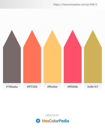 Palette image download - Dim Gray – Coral – Light Salmon – Tomato – Peru