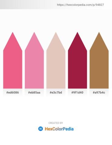 Palette image download - Light Coral – Light Coral – Tan – Firebrick – Gray