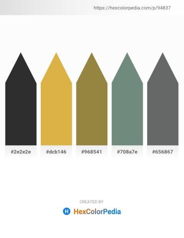 Palette image download - Black – Goldenrod – Coral – Slate Gray – Slate Gray