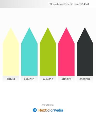 Palette image download - Lemon Chiffon – Medium Turquoise – Yellow Green – Deep Pink – Dark Slate Gray