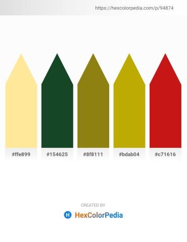Palette image download - Navajo White – Dark Sea Green – Dark Goldenrod – Dark Goldenrod – Crimson