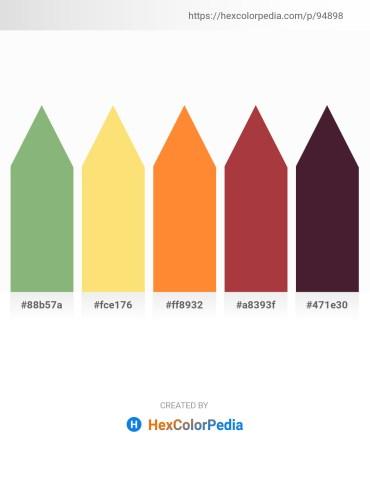 Palette image download - Dark Sea Green – Navajo White – Coral – Brown – Olive Drab