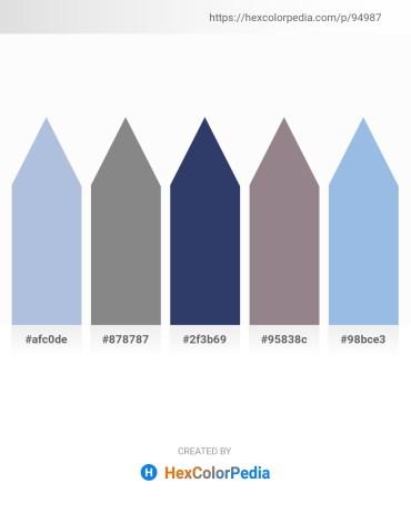 Palette image download - Light Steel Blue – Gray – Dark Slate Blue – Gray – Light Blue