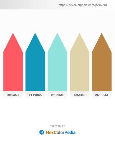 Palette image download - Tomato – Light Sea Green – Light Blue – Tan – Peru