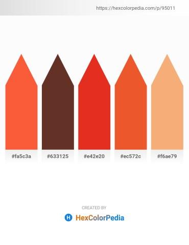 Palette image download - Tomato – Sienna – Crimson – Chocolate – Sandy Brown