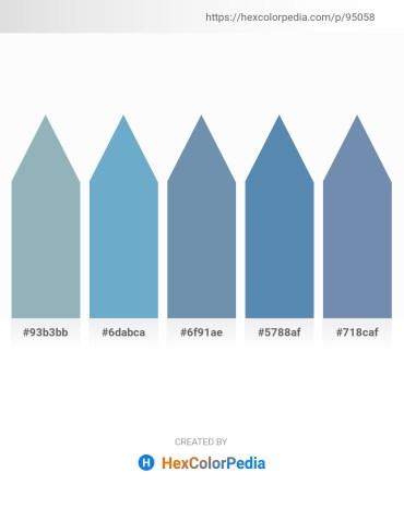 Palette image download - Light Slate Gray – Light Blue – Cadet Blue – Steel Blue – Cadet Blue